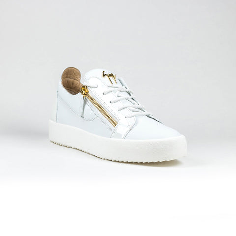 Giuseppe Zanotti May Patent Low Top White Sneakers
