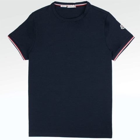 Moncler Logo Slim Fit T Shirt Navy