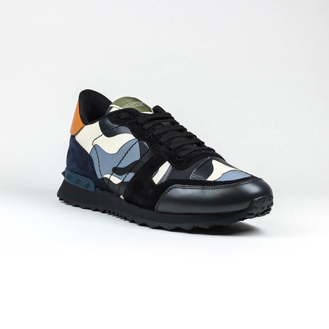 Valentino Rockrunner Sneaker Black Blue Orange