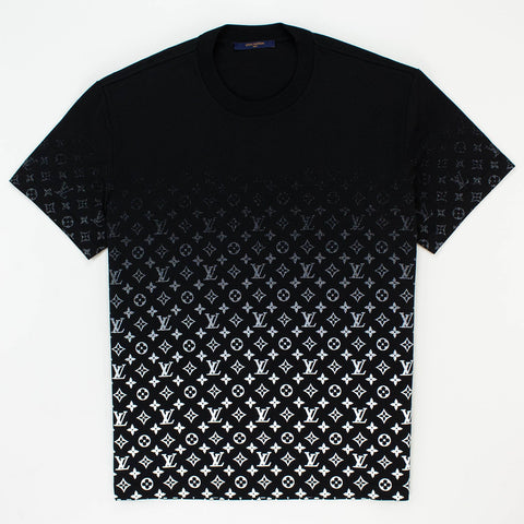 Louis Vuitton LV Monogram Gradient Black T Shirt