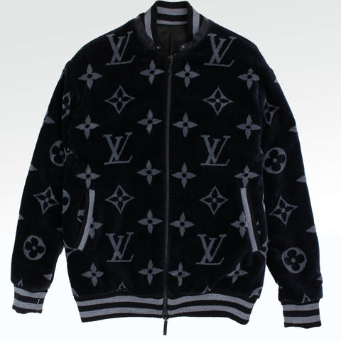 Louis Vuitton Custom Monogram Eclipse beach Towel Bomber Jacket