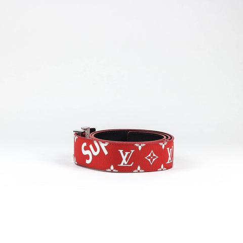 Supreme x Louis Vuitton Monogram Red Initiales 40MM Belt