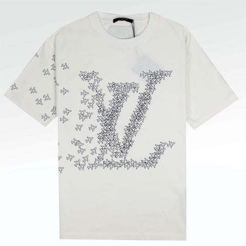 Louis Vuitton LV Planes Printed T Shirt White