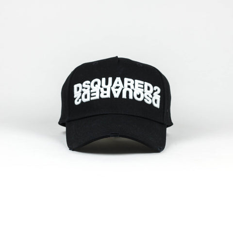 Dsquared2 Double Logo Baseball cap  Black White