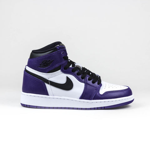 Nike Air Jordan 1 Retro High Court Purple White (GS)