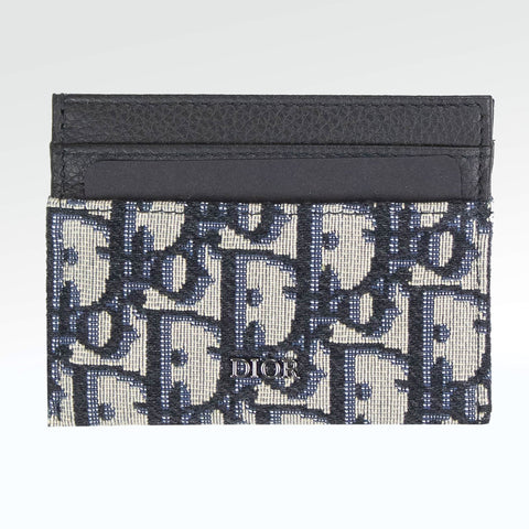 Dior Oblique Jacquard Beige Card Holder