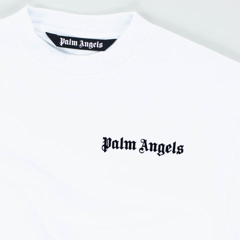 Palm Angels Logo Basic White T Shirt