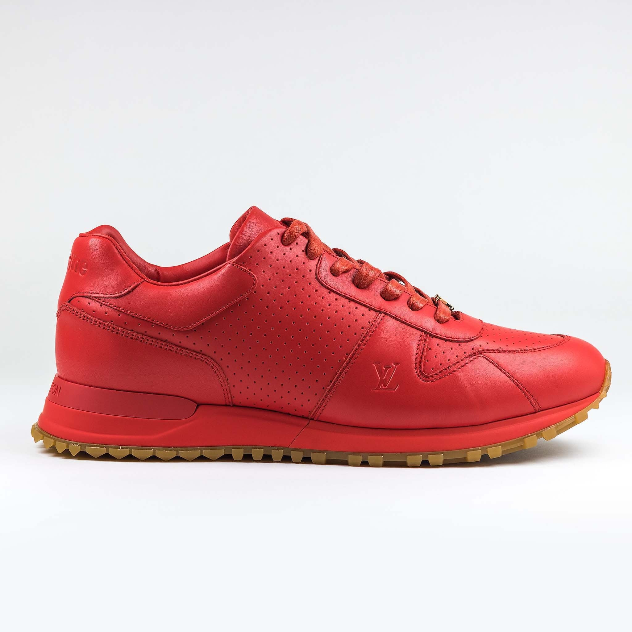 5f41de295b77 Supreme x Louis Vuitton Red Run Away Sneaker – Crepslocker