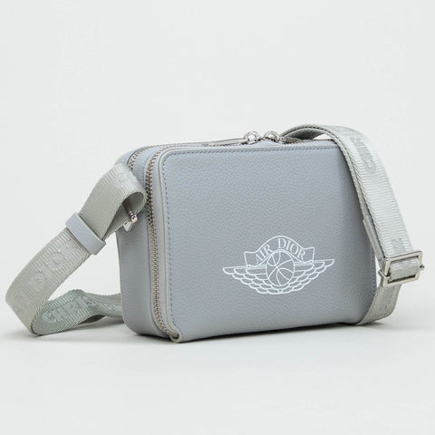 Dior x Jordan Grey Crossbody Messenger Bag