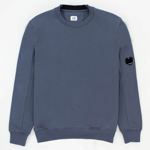 CP Company Steel Blue Cotton Sweatshirt