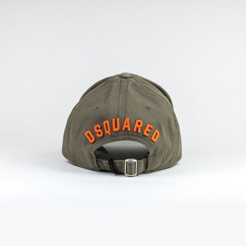 Dsquared2 Icon Baseball Cap Khaki Orange