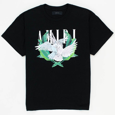 Amiri Lovebirds Logo Black T Shirt