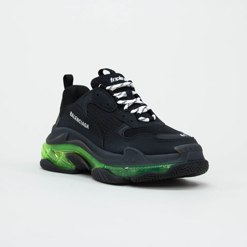 Balenciaga Triple S Sneaker Black Green Clear Sole