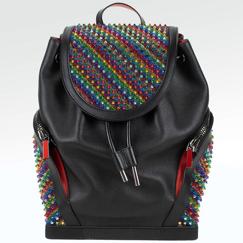 Christian Louboutin Explorafunk Rainbow Spiked Backpack