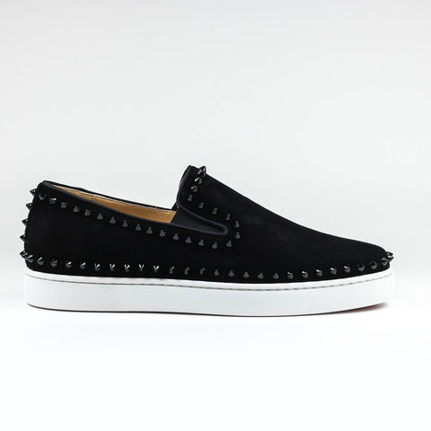 Christian Louboutin Pik Boat Suede Black