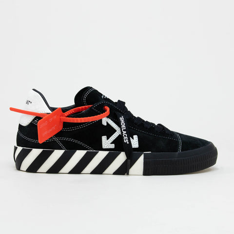 Off-White Vulcanized Black Suede Sneaker