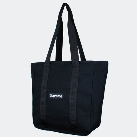 Supreme Logo Black Canvas Tote