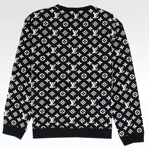 Louis Vuitton All Over Monogram Black White Sweatshirt