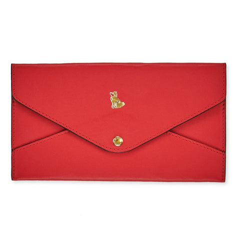 Louis Vuitton Red Leather Pouch