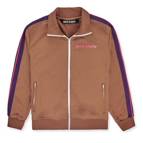 Palm Angels Brown Striped Track Jacket