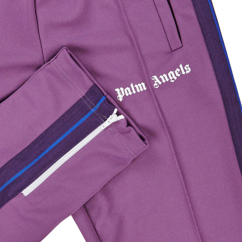 Palm Angels Purple Striped Track Pants
