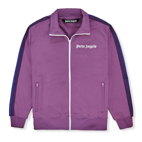 Palm Angels Purple Striped Track Jacket
