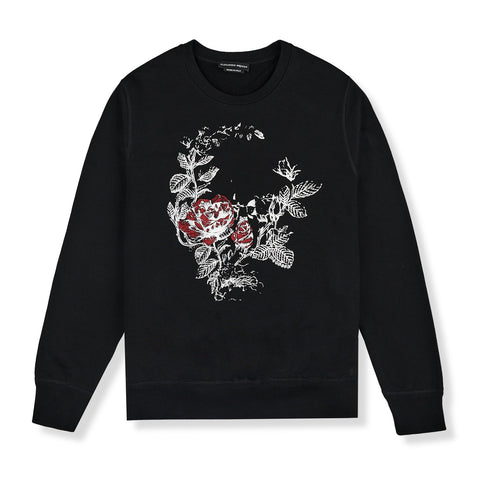 Alexander Mcqueen Rose Black Sweater