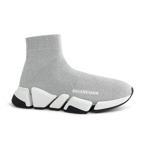 Balenciaga Speed Knit Sock 2.0 Silver Black