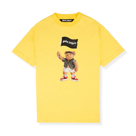 Palm Angels Pirate Bear Yellow T Shirt