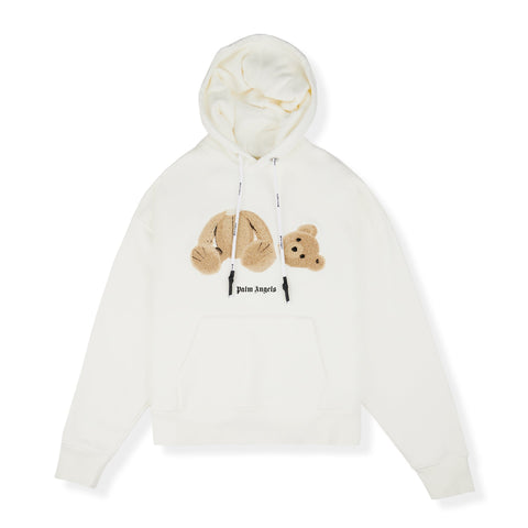 Palm Angels Kill The Bear White Hoodie