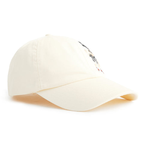Palm Angels Pirate Bear Embroidered Cream Cap