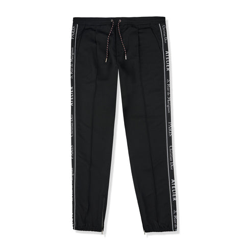 Dior Atelier Ribbon Logo Wool Trousers
