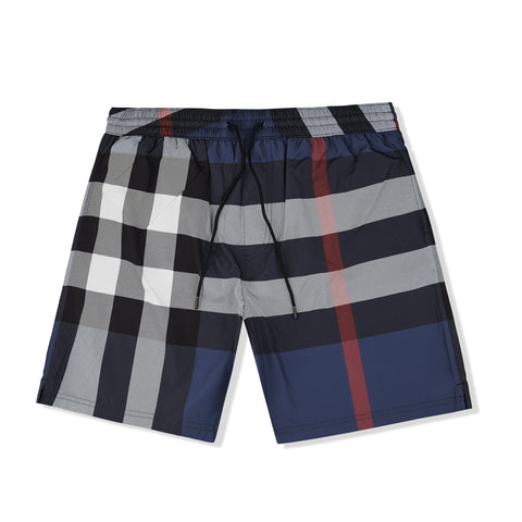 Burberry Check Carbon Blue Swim Shorts