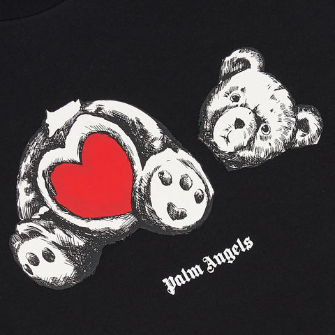 Palm Angels Bear In Love Black T Shirt