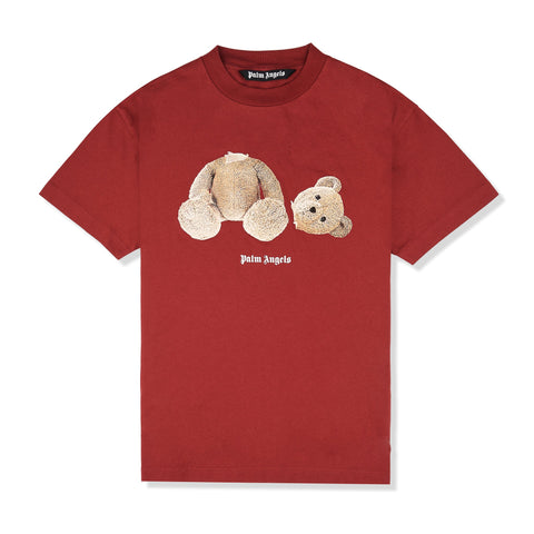 Palm Angels Kill the Bear Burgundy T Shirt