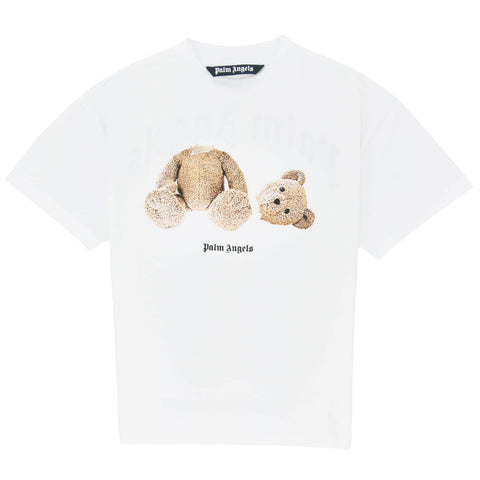 Palm Angels Kill the Bear White Brown T Shirt