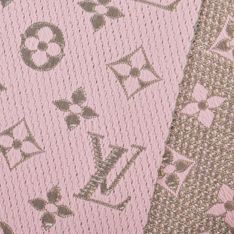 Louis Vuitton Monogram Logomania Shine Rose Ballerine Scarf