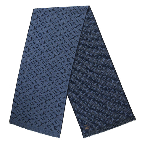 Louis Vuitton Monogram Classic Navy Scarf