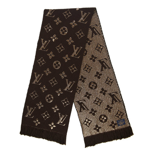 Louis Vuitton Monogram Logomania Shine Brown Scarf