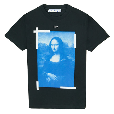 Off White Mona Lisa Black Blue T Shirt