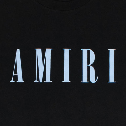 Amiri Logo Black Blue T Shirt