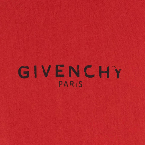 Givenchy Paris Broken Logo Red Hoodie