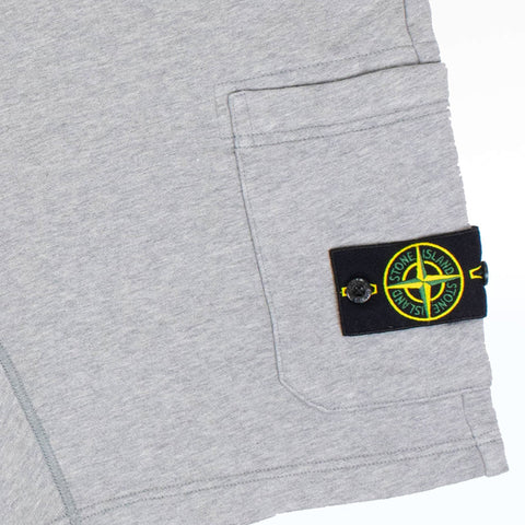 Stone Island Grey Logo Cotton Shorts