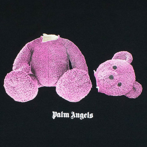Palm Angels Mini Large Kill the Bear Black Pink T Shirt