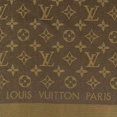 Louis Vuitton Monogram Brown Shine Shawl/Scarf/Bandana