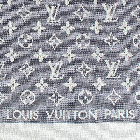 Louis Vuitton Monogram Denim Light Blue Shawl/Scarf/Bandana