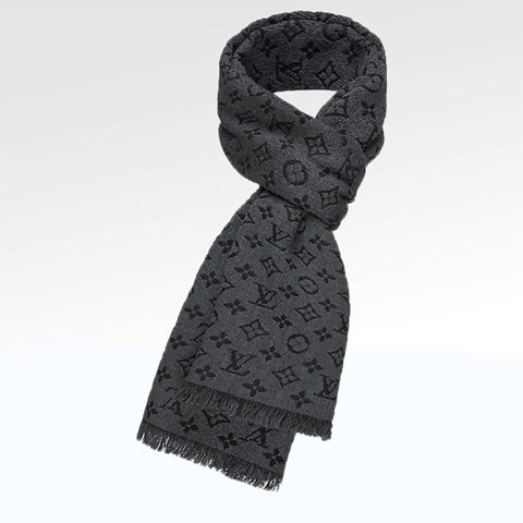 Louis Vuitton Monogram Classic Scarf Charcoal Grey