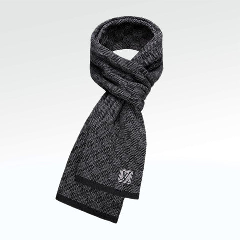 Louis Vuitton Petit Damier Scarf Black