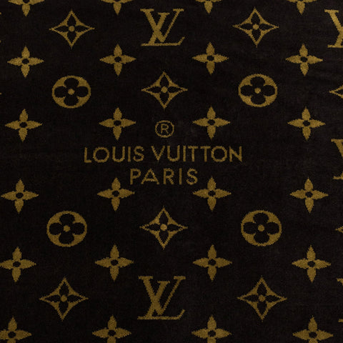 Louis Vuitton Monogram Brown Classic Beach Towel