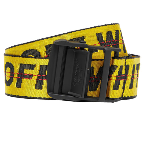 Off White Industrial Belt Black Yellow